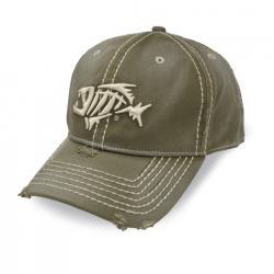 G.loomis® A-FLEX® Distressed Thick Stitching Sage Hat