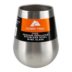 Ozark Trail 14 oz Vacuum Insulated Stainless Steel Wine Glass