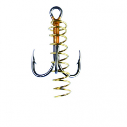 Eagle Claw Soft Bait  Treble Hook with Spring #8, 3 pcs