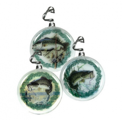 Rivers Edge Bass Hollow Glass Ornaments
