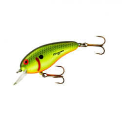 Bomber  Flat A 3/8 oz Chartreuse Black Scales