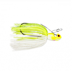 Booyah Melee 3/8 oz White Chartreuse/Silver Bladed