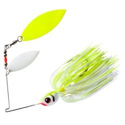 Booyah Glow Blade Doble Willow 1/2 Oz Chartreuse White/ Chartreuse White